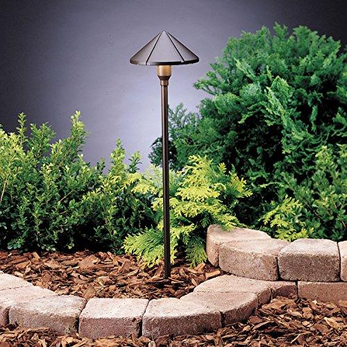 UPC 783927286589, Kichler Lighting 15826AZT LED Center Mount Low Voltage Landscape Path and Spread Light, Textured Architectural Bronze