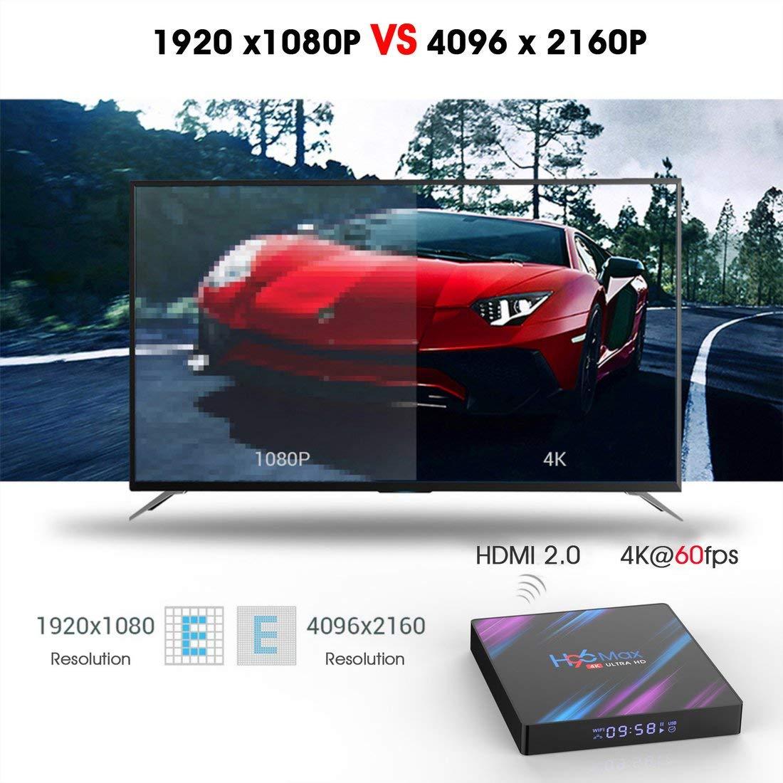 drf8090w-eop H96 MAX TV Box Rockchip RK3318 H.265 4K 60fps Multi-Media Player Set Top Box
