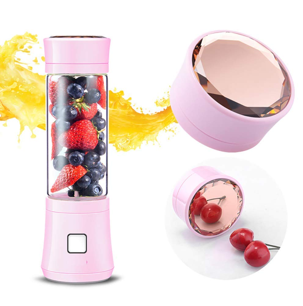 Portable Blender,Household Personal Smoothie Blender Mini Juicer Cup 480ML Fruit Juice Mixer with USB Rechargeable and 6 PCS Stainless Steel Blades for Home Outdoor