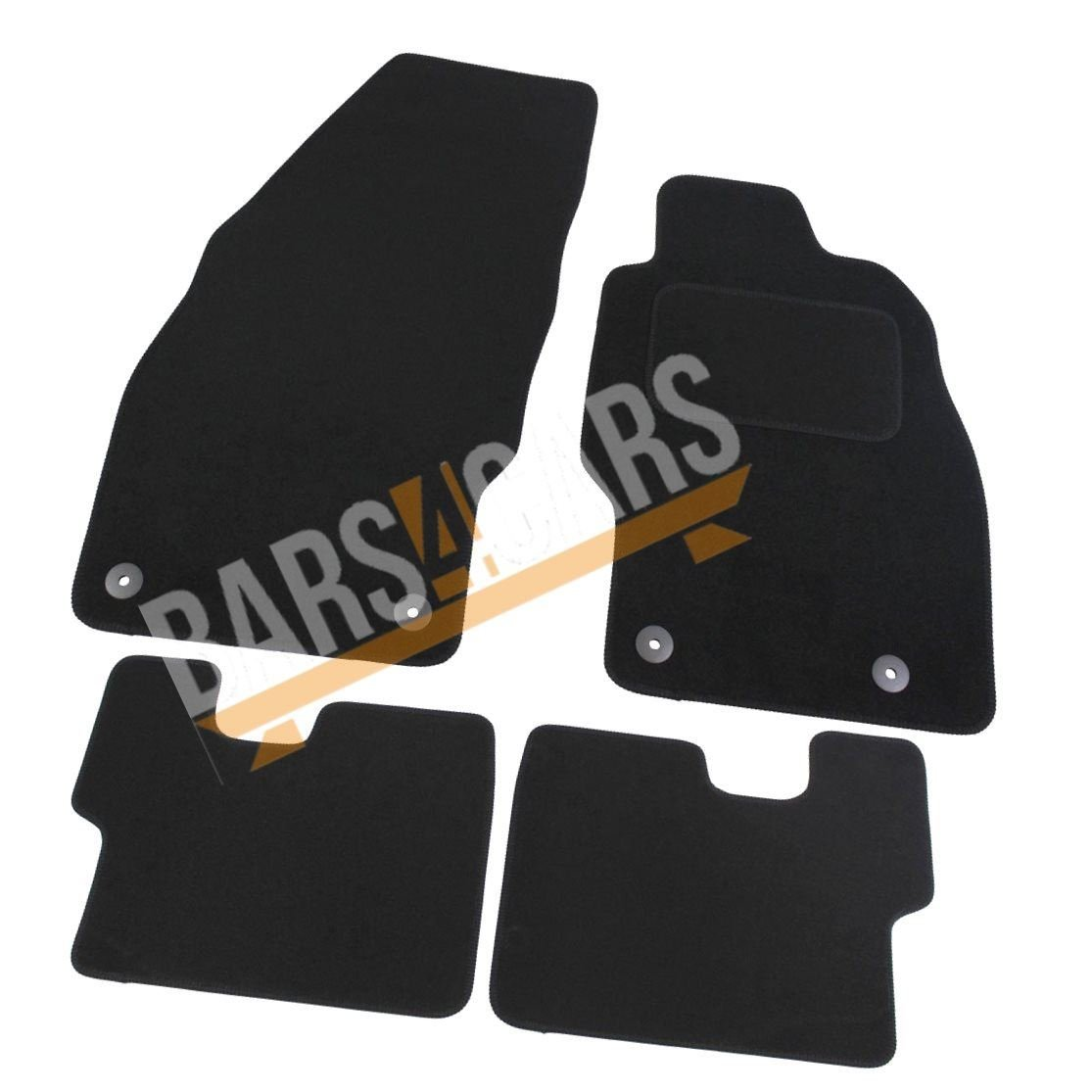 UKB4C Fully Tailored Carpet Car Mats for Vauxhall Corsa E 14> Set of 4 With 4 Clips