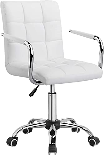 Yaheetech White Office Chair/Desk Chair