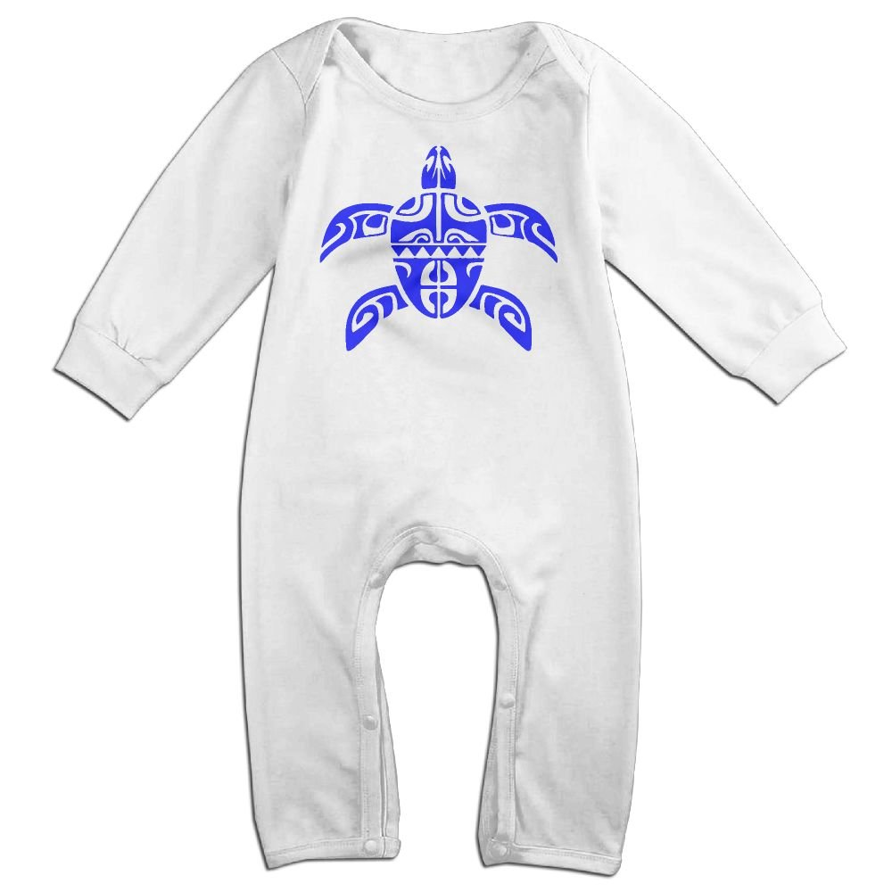 Mri-le1 Newborn Kids Coverall Tribal Sea Turtle Toddler Jumpsuit