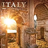 Italy 2018 12 x 12 Inch Monthly Square Wall Calendar with Foil Stamped Cover, Scenic Travel Eurpoe Italian Venice Rome