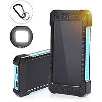 infinitoo Solar Ladegerät tragbares Powerbank 10000 mAh Externer Akku mit Eingangsports und 2 USB Ausgängen Tragbare Power Bank für das Android/IOS Phone