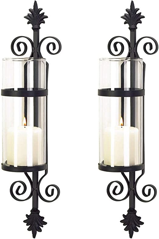 Gallery of Light Scrolling Candle Wall Sconce
