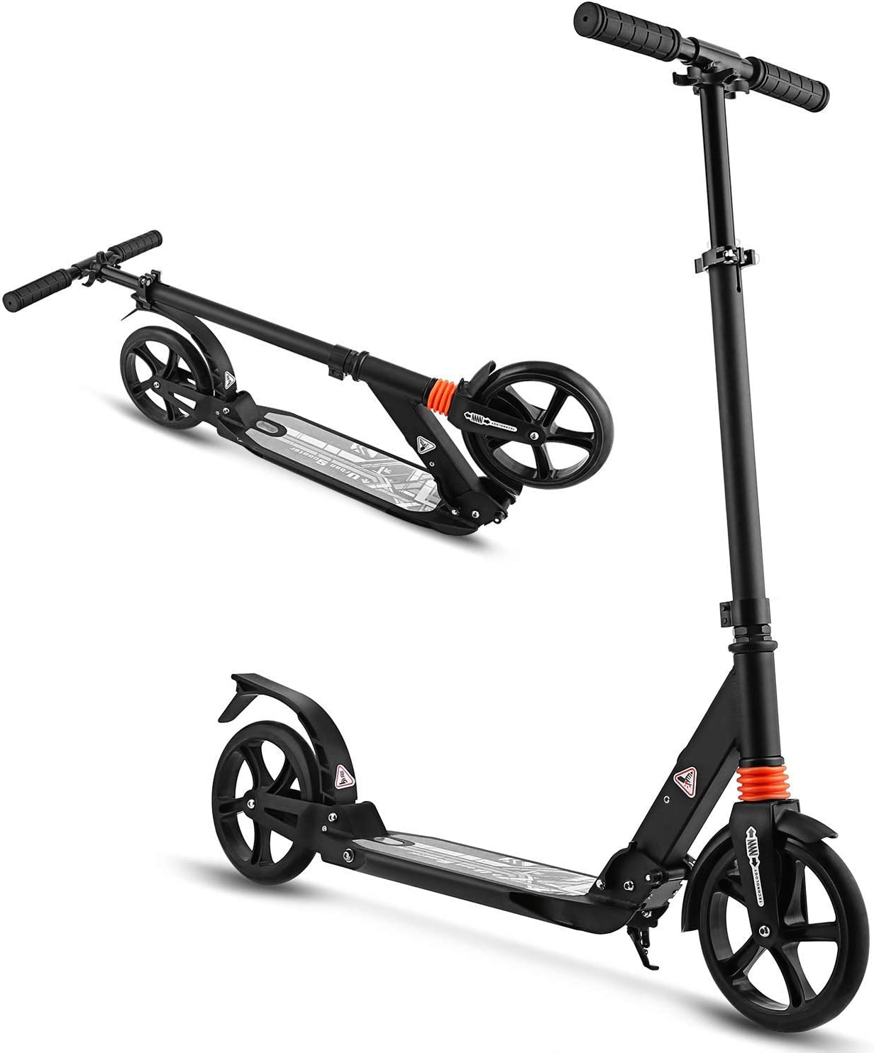 WeSkate Scooter for Adults Teens, Big Wheels Scooter Easy Folding Kick Scooter Durable Push Scooter Support 220lbs Suitable for Age 12 Up Teens Adults