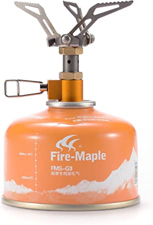 Fire-Maple FMS-300T Mini Estufa hornillo de Gas portátil para Cocina de Camping Acampada Senderismo BBQ Supervivencia al Aire Libre