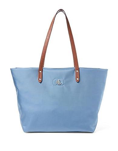 ... france lauren ralph lauren nylon and leather tote blue 7ec58 d964c c0a2028977d8f
