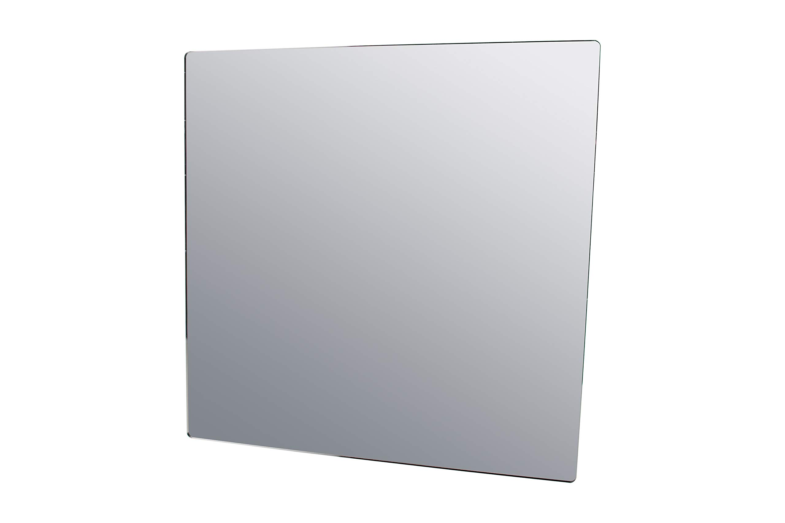 Marketing Holders Mirror Sheet Camping Daycare Gym Restrooms Speech Therapy Jewelry Makeup Mirror 24'' w x 24'' h by Marketing Holders