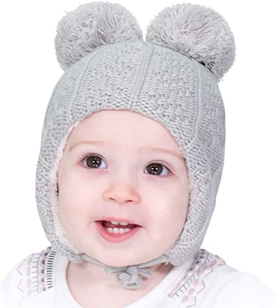 Jan /& Jul Toddler Baby Windproof Bomber Winter Hat M: 1-3Y, Woodland