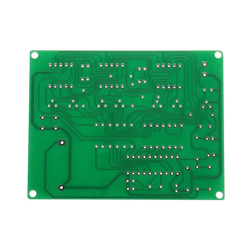 YRW ONDER Kit Fai da Te Componenti elettronici 9V-12V AT89C2051 Kit Orologio Digitale Fai-da-Te Digitale 6 LED Fai-da-Te