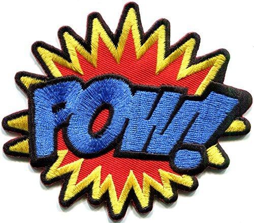 POW! superhero comics retro fun embroidered applique iron-on patch new -