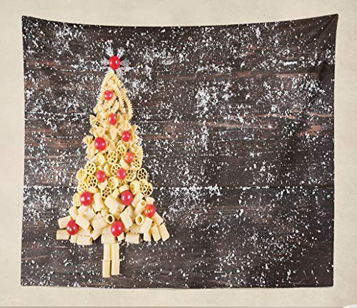 ONELZ Wall Art Tapestry Wall Hanging Christmas Tree Italian Wooden Saltwall Decor Tapestries Wall Blanket(50 x 60 -