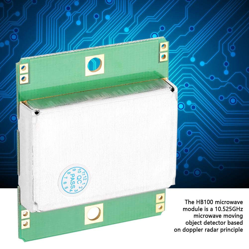 Amazon.com: HB 100 Microwave Sensor Module 10.525GHz Doppler Radar Motion Detector for Alarms, Motion Detectors, Lighting Control: Industrial & Scientific