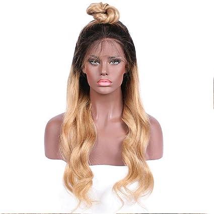 Peluca de cabello humano Remy 130% de densidad, peluca rubia, peluca corta,