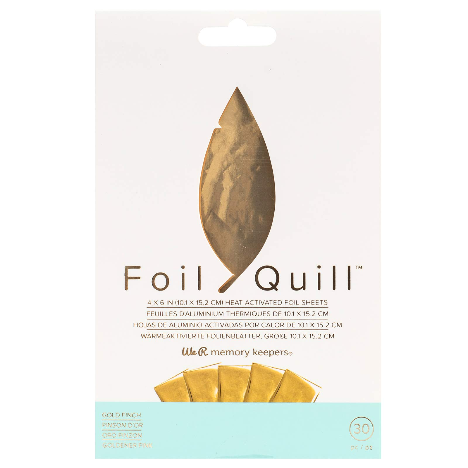 Foil Quill Foil Pack with 30 Foil Sheets - Gold Finch