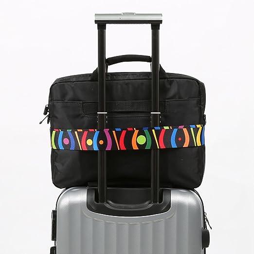 Colorpole Design Luggage Strap Adjustable Lock Suitcase 68 Inch Wave Bubbles