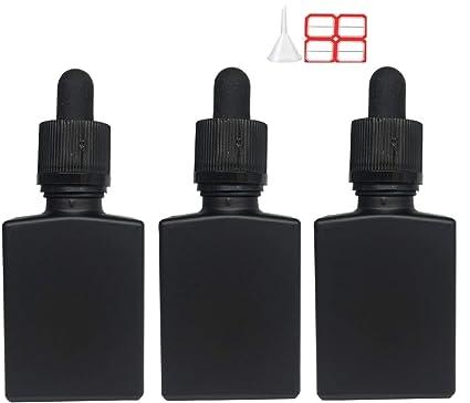 af387b797996 Amazon.com: 6 x 30ml Eliquid Vape Oil Square Glass Dropper Bottle ...