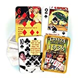 1938 Trivia Playing Cards: 80th Birthday or Anniversary Gift