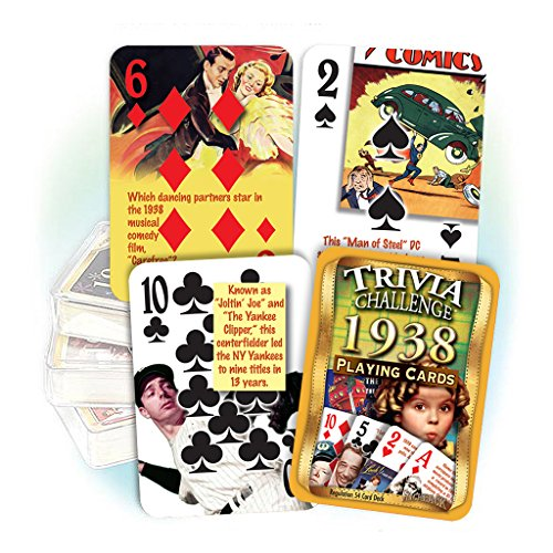 1938 Trivia Playing Cards: 80th Birthday Gift