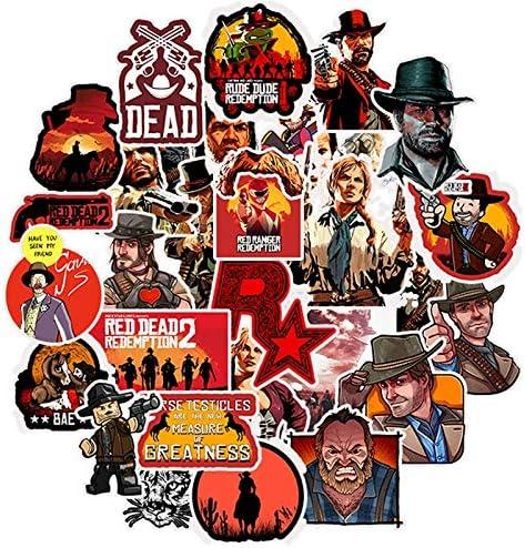 BLOUR Juego Red Dead Redemption 2 Series Pegatinas para Moto, para teléfono y portátil, Divertidas Pegatinas para Graffiti, 50 Unidades: Amazon.es: Electrónica