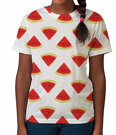 6e2e8b41 Amazon.com: Bang Tidy Clothing Kids Graphic Tee Youth T Shirt Watermelon  Print Clothes for Girls: Clothing