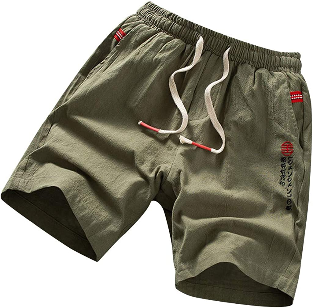 YAYUMI Quick Dry Beach Shorts Pants Swim Trunks Mens Swimsuit With Pockets