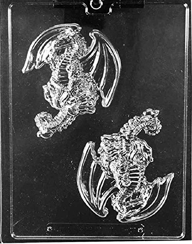 Grandmama's Goodies I027 Dragon Pieces Chocolate Candy Soap Mold with Exclusive Molding Instructions (Dragon Suckers)