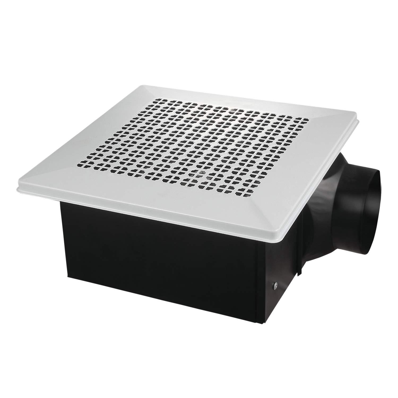 iPower HIFANXVENT90METAL 90CFM Ultra-Quiet HVAC Exhuast White Metal Grille Household Ventilation Fan