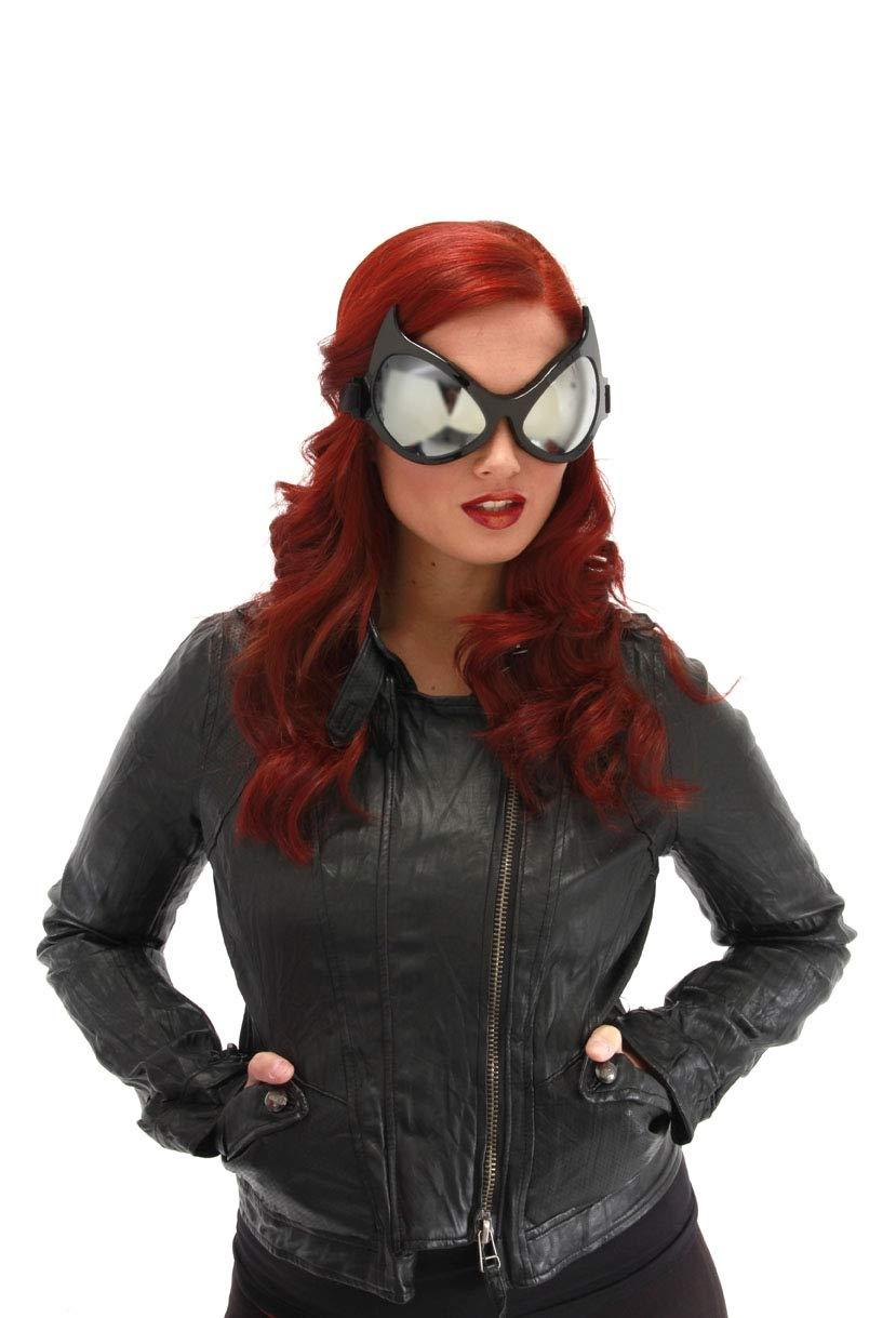 elope Cat Eye Costume Goggles Black, Silver Lenses
