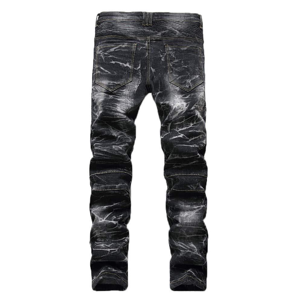 Cebbay Liquidación Pantalones de Hombre Pantalones Bolsillo Retro con  Cremallera Locomotora Pantalones Casuales Viento Urbano Cómodo en otoño e  ... 39e735f084b