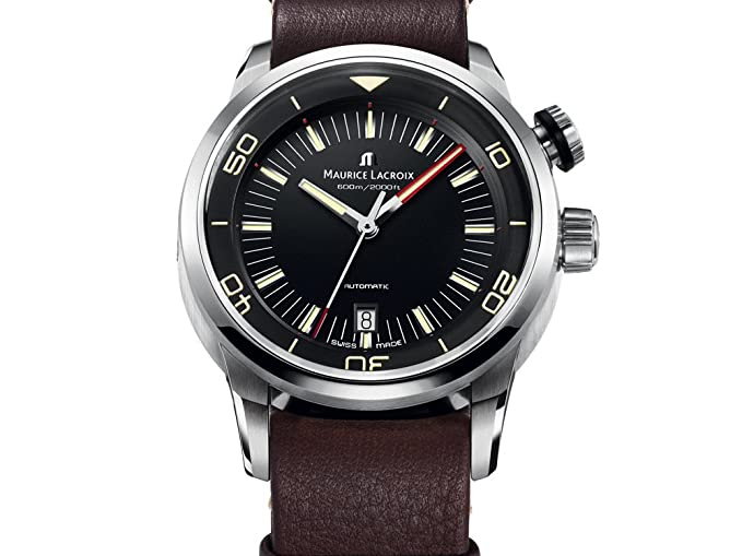Reloj Maurice Lacroix Pontos S Diver, Acero inoxidable, ML 115, Día: Amazon.es: Relojes