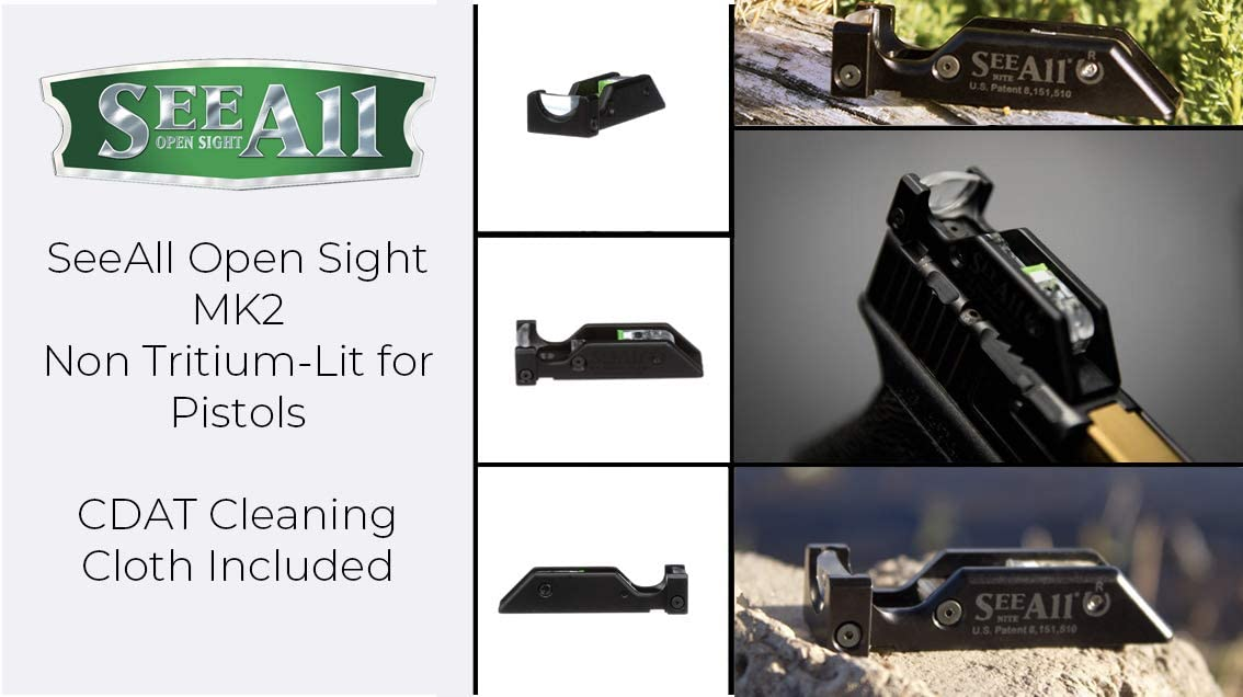 SeeAll Open Sight MK2 Non Tritium-Lit Sight for Sig-Sauer Pistols See All Sig