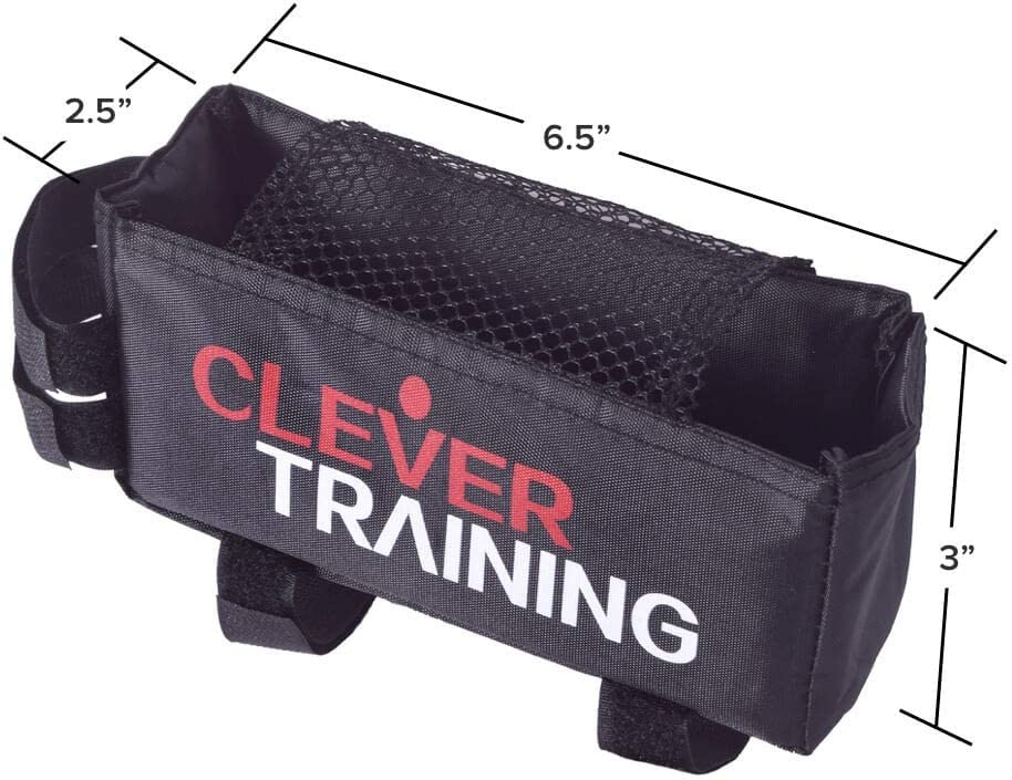 Clever Training Cycling Bike Bag Black with White//Red Logo