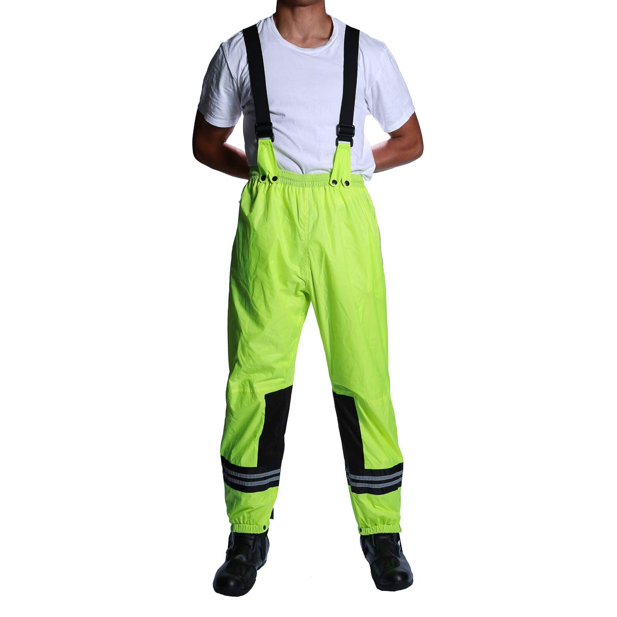 6th Gear Rain Pants (Hi Viz Green, Waist 28/XS)