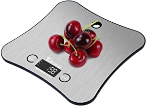 Digital Multifunction Kitchen and Food Scale w/New Hanging Design, Large Stainless Steel Platform for Baking Cooking Diet(11lb/5kg Capacity, 0.05 Ounces/ 1 Grams Increment)- Home Gift Ideas