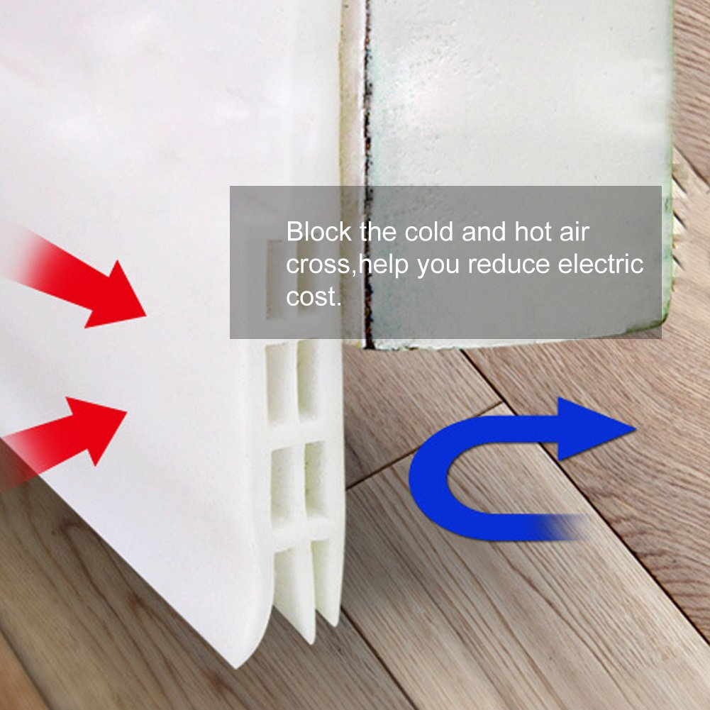 Osportfun Interior Door Seal Strip Rubber Sound Proof Door Strip
