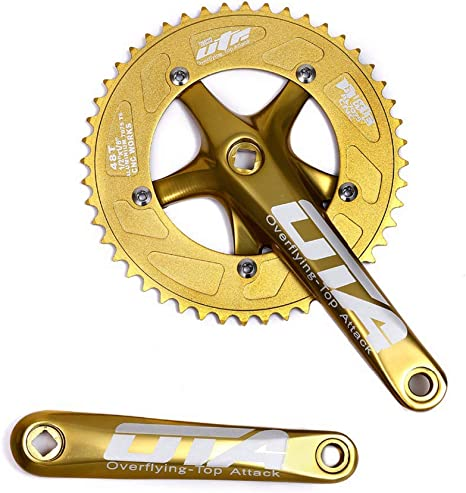 Aluminum Alloy Bicycle Crank Arms BCD 130mm Bike Square Crankset 170mm Silver