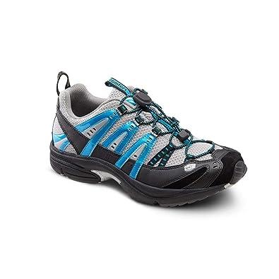 cf3f76b8179a Dr. Comfort Performance Men s Therapeutic Athletic Shoe  Metallic Blue 6  Medium (B