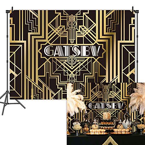 Mehofoto Gatsby Backdrop 1920s Retro Party Photography Background 7x5ft Vinyl Gatsby Theme Birthday Party Backdrops ()