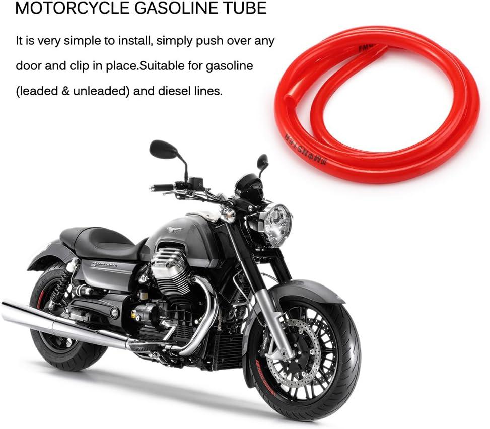 4PCS ONEVER Petrleo y Gas 1M de Combustible de la Motocicleta Tubo Gasolina Tubo de la Manguera de 5 mm I//D de 8 mm O//D Accesorios de la Motocicleta