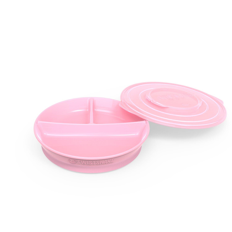 Twistshake Divided Plate 6+m Pastel, Pink 78169