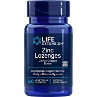 Life Extension Zinc Lozenges (Natural Citrus-Orange Flavor), 60 Vegetarian Capsules