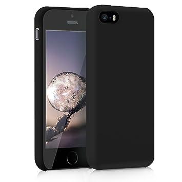 kwmobile Funda compatible con Apple iPhone SE / 5 / 5S - Carcasa de TPU para móvil - Cover trasero en negro
