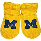 Creative Knitwear University of Michigan Newborn Baby Bootie Sock