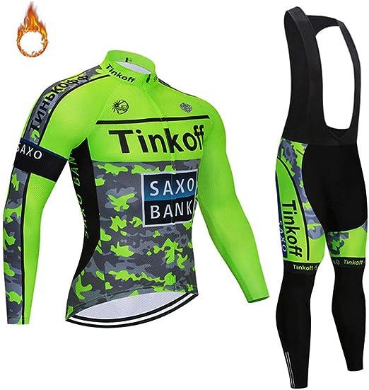 YDJGY Manga larga ciclismo Jersey Set, ciclismo ropa térmica ...