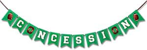 Football Themed Concessions Banner Football Themed Birthday Party Decoration Outdoor Concession Stand Banner Sports Game Day Photo Backdrop Pre- strung & Premium Quality