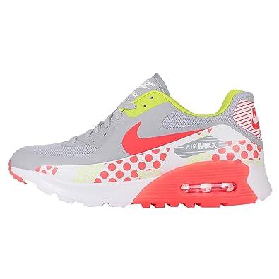 4e8d6939a0b4b Nike Women s Wmns Air Max 90 Ultra BR Print WOLF GREY BRIGHT  CRIMSON-WHITE-CYBER Wolf Grey/Bright Crimson-white-cyber 7.5 B(M) US:  Amazon.in: Shoes & ...