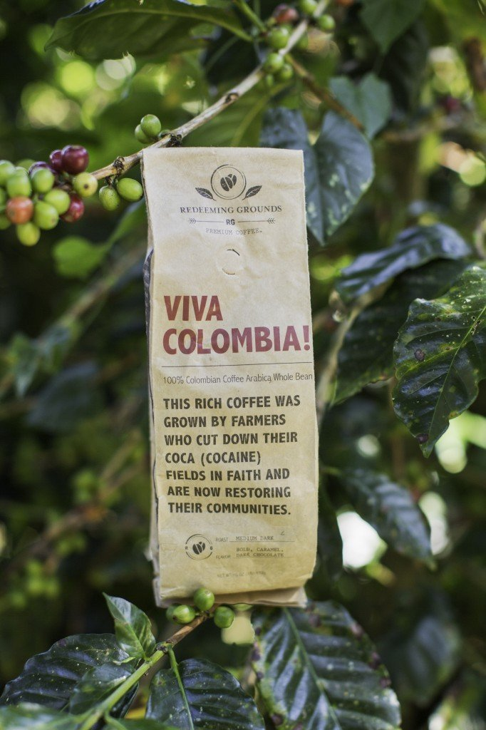 VIVA COLOMBIA! Fresh, Unroasted, Green Beans, (77 lb./35 kilo Bag) by Redeeming Grounds Premium Coffee (Image #1)