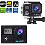 Action Camera 4k Sports Underwater Outdoor Waterproof up to 30m Dual Screen Wifi 170 Wide Lens 2 Batteries Full Accessories Kits